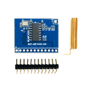 Sub-1GHz Super-heterodyne OOK RF Receiver Module BCM-68F2332-X01