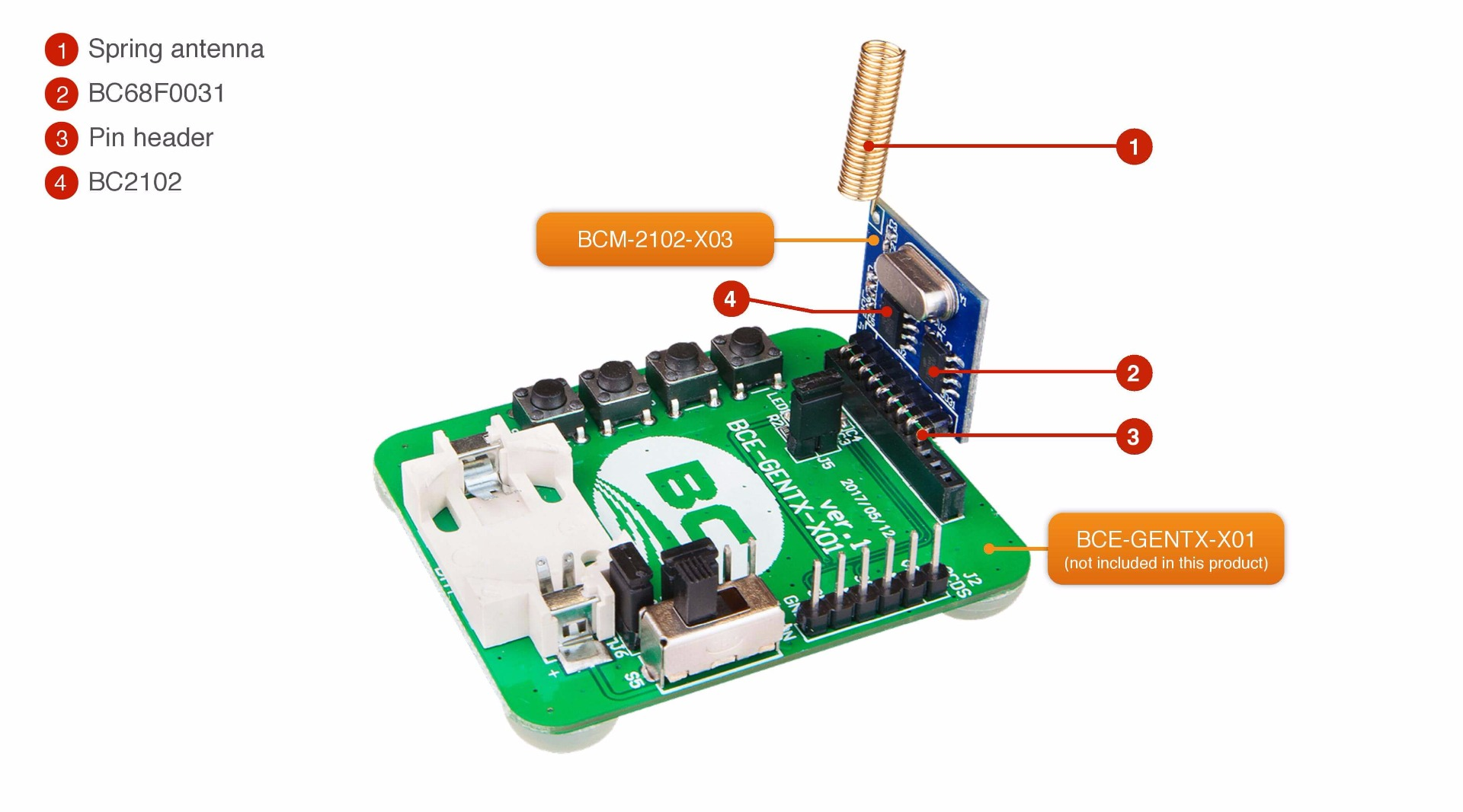 Serial Ook Transmitter Module 433mhz Circuit Features
